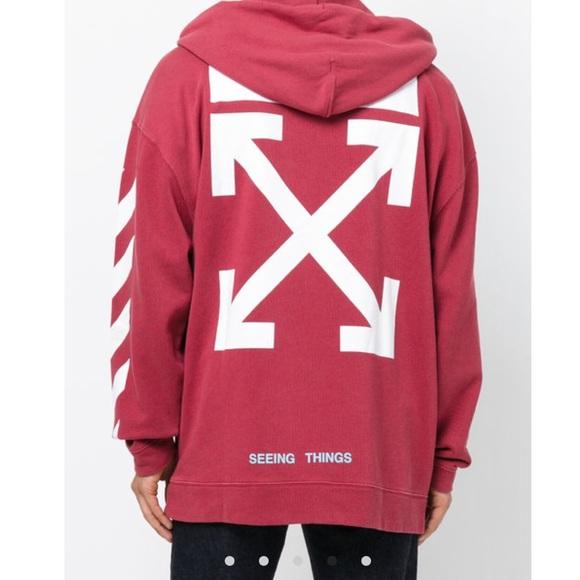 8d0700aae2cb Off-White diagonal stripe hoodie. M 5a9f2f45fcdc314597ab0004